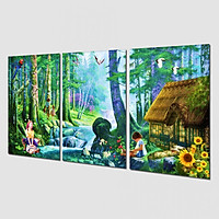 Tranh treo Tường 3D Sơn Dầu SD635- Tranh treo phòng khách đẹp
