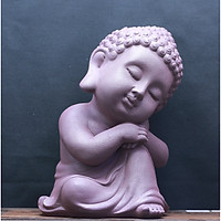 Tượng Phật Thích Ca - Màu Nâu Đất Tím Đậm như hình- làm bằng vật liệu nhựa Composite
