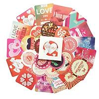 Hộp 38 Nhãn Dán Sticker Trang Trí Tình Yêu Vô Tận Endless Love