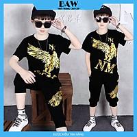 Set Đồ Bé Trai phong cách hàn quốc, chất thun cotton mát mịn thấm hút mồ hôi, thời trang trẻ em thương hiệu BAW mã 124