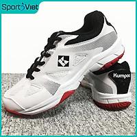 Giày bóng chuyền, cầu lông Kumpoo KH-E23 mẫu mới dành cho nam và nữ đủ size màu trắng phối đỏ đen