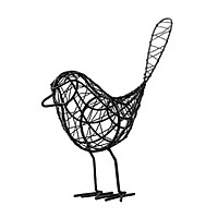 Iron Hollow Out Bird Ornament Metal Craft Desk Home Office Decor White
