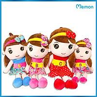 Gấu bông Búp bê váy chữ cao cấp - Hàng chính hãng Memon - Đồ chơi thú nhồi búp bê váy chữ bé gái, Nhung mịn cao cấp bông gòn tinh khiết, đàn hồi tốt, bền đẹp, dễ sử dụng và an toàn cho trẻ nhỏ