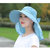 Mũ vành nón rộng mát có khẩu trang AT-05 bảo vệ sức khỏe kèm dây thắt dễ dàng sử dụng (Nữ)