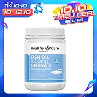 Dầu cá tự nhiên  Healthy Care Fish Oil Omega-3 1000mg 400 viên chính hãng Úc giúp bổ mắt, kháng viêm, tốt cho trí não, tim mạch