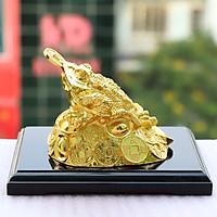 Tượng Cóc ba chân ngậm tiền vàng - Thiềm thừ mạ vàng