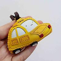 Móc khóa da Thú nhồi bông Xe hơi Taxi vàng PT053