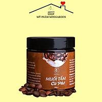 Muối Tắm Cà Phê MINI GARDEN 200ml - Tẩy Tế Bào Da Chết cafe Toàn Thân,bảng giảm Mụn Lưng, Viêm Nang Lông, sáng da, mờ nám
