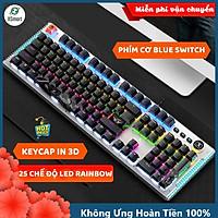 Bàn Phím Cơ Gaming Mẫu Mới XSmart K968 SUPER GAME 2021 Có 25 Chế Độ Led Đổi Màu Keycap Siêu Xịn, Tương Thích Máy Tính PC - Hàng Chính Hãng