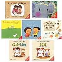 Sách - Combo Ehon 0-6 tuổi 7 cuốn: Bull và Kana/ Bull chơi trốn tìm/ Chuyện những chiếc răng/ Asae và em gái bé nhỏ/ Trường mẫu giáo của chú voi Grumpa/ Cần một cái nồi súp to hơn/ Chiếc xe đạp của ai thế nhỉ