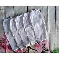 Set 10 quần dài trắng  xô mỏng cho bé