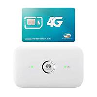 Router wifi 4G Huawei E5573 LTE 150Mbps + Sim Viettel 4G Siêu tốc khuyến Mãi 60GB/Tháng - Hàng nhập khẩu
