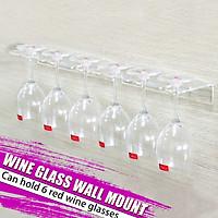 Acrylic Glass Hanger Wine Glass Storage Rack Bar Glass Holds 6 Wine Glasses