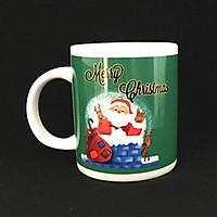 Cốc sứ uống trà cà phê cao cấp in hình  ông già Noel đẹp mắt- Quà tặng giáng sinh ý nghĩa
