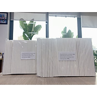 Ống hút giấy Clean Paper Straw kích thước 8mm x 197mm màu trắng dùng cho, sinh tố, đá xay.... (0,5kg)