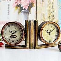 Đồng hồ hình chữ L 2 mặt cổ điển