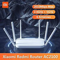 Redmi Router AC2100 2.4GHz 5GHz 2033Mbps Gigabit Router 6 Antennas Dual-Core CPU 128MB Support 128 Devices