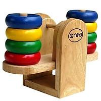 Trò chơi cân thăng bằng | Đồ chơi bập bênh gỗ cho bé học màu sắc thả cọc và đếm số | Cân Bập Bênh Winwintoys