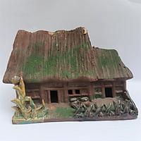 Phụ kiện trồng cây cảnh đẹp làm từ gốm sứ: Ngôi nhà Cổ