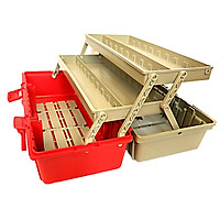 Thùng đựng đồ nghề - Hộp đựng đồ nghề 2 tầng nhiều ngăn K0004 (Cỡ trung)