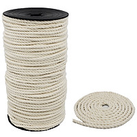 Dây làm handmade Macrame 3 xoắn , 100% cotton mềm tự nhiên để làm sản phẩm thủ công treo tường, Móc treo cây, giá sách, trang trí nhà cửa