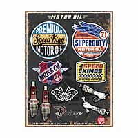 Motor Oil - Reflective Sticker hình dán phản quang 3M Premium