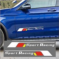 Bộ 2 tem dán cửa xe ô tô Sport Racing 2