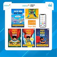 Sách - Combo 5 cuốn Hack Não 1500 Từ Vựng Tiếng Anh, Ngữ Pháp, Plus A+B và Giao Tiếp - Tặng App Hack Não Pro học phát âm