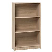 Kệ sách 3 tầng JYSK Horsens gỗ công nghiệp màu sồi 70x120x30cm