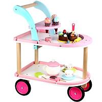 Đồ chơi bán kem xe đẩy cho bé bằng gỗ cao cấp