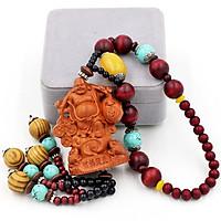 Dây Treo phong thủy Phật Di lặc vác kim tiền 3D
