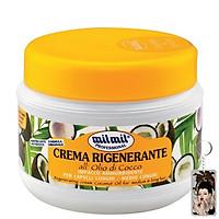 Kem phục hồi tóc hư tổn dừa Milmil Cream Coconut Oil 500ml tặng kèm móc khóa