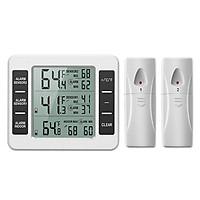 Thiết bị đo nhiệt độ từ xa không dây ( PHẠM VI ĐO NHIỆT ĐỘ -40°C ~ 60°C, ĐỘ CHÍNH XÁC ±0.1 ) - Tặng kèm 01 nhiệt ẩm kế mini ngẫu nhiên