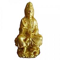Tượng Phật Bà Quan Âm Đá Vàng PBDV12