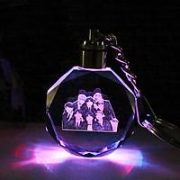 Móc khóa phát sáng hình nhóm BTS