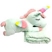 Bộ Chăn Gối 3 Trong 1 Unicorn Cao Cấp
