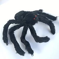 Nhện giả bằng lông nhung dùng trang trí chủ đề halloween