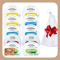 Combo 10 gói Mặt nạ giấy BNBG Vita Genic Jelly Mask 30ml x10 (Lifting, Whitening, Relaxing, Hydrating) Tặng 1 Lưới Tạo Bọt Rửa Mặt