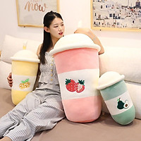 Gấu bông trà sữa hoa quả màu xanh bơ vàng dứa hồng dâu kích thước 50-60-70cm Xưởng gấu bông Việt Nam