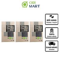 Combo 3 Gạo Hữu Cơ Ecoba Huyền Mễ - Ecoba Organic Black Rice 1kg