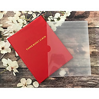 Album đựng tiền giấy PCCB MINGT đựng được 60 tờ tiền với 20 phơi 3 ngăn trong suốt - Hàng nhập khẩu, màu ngẫu nhiên