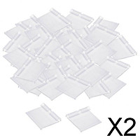 2xClear Plastic Label Holder Retail Price Tag Label Holder 100x42mm
