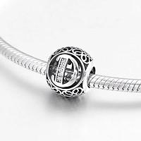 Hạt charm chứ D vintage bạc s925 ( vừa tất cả các vòng tay)