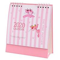 Lịch Để Bàn 2020 Chữ A Dễ Thương Báo Hồng Pink Panther