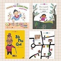 """Combo 4 cuốn Ehon với chủ đề """"Bé khéo tay"""". Bao gồm: Trang trí giáng sinh cùng bà Baba, Mọi người đã dạy tớ, Bà phí quá, Đi đến tận đâu."""