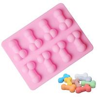 Khuôn silicon làm thạch, rau câu, socola, kẹo 8 hình trym