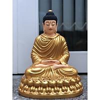 Tượng Phật Bổn Sư 40cm nhựa composite nhủ vàng