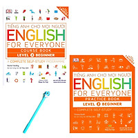 Combo Tiếng Anh Cho Mọi Người Level 2 Beginner: English For Everyone Practice Book và English For Everyone Course Book ( Tặng Kèm Bút )