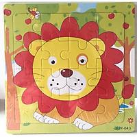 Đồ chơi Ghép hình puzzle tranh ghép 16 mảnh xếp hình con vật, phương tiện