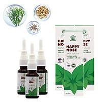Combo 3 lọ xịt mũi Matara Happy Nose. Dứt điểm, ngăn ngừa viêm xoang, viêm mũi dị ứng phát triển và tái phát. Thảo dược tự nhiên an toàn khi sử dụng